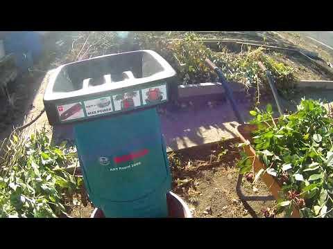 Купил садовый измельчитель Bosch AXT Rapid 2000.Первое применение.