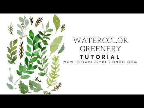 How to paint leaves, ferns and greenery | BEGINNER WATERCOLOR TUTORIAL