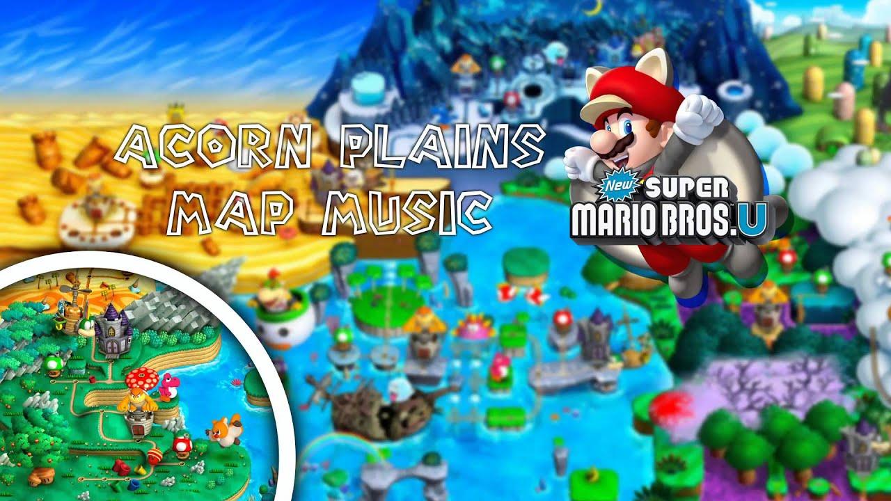 new super mario bros u acorn plains map music youtube