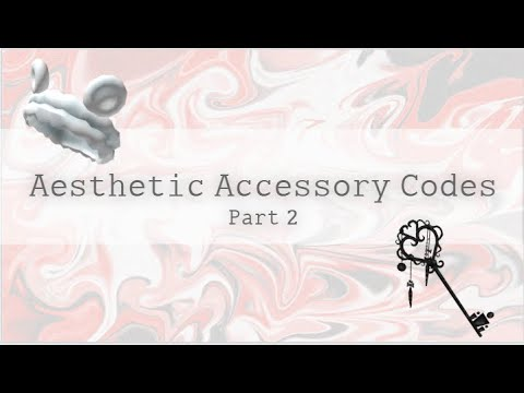 Roblox Aesthetic Accessories W Codes 2 Youtube