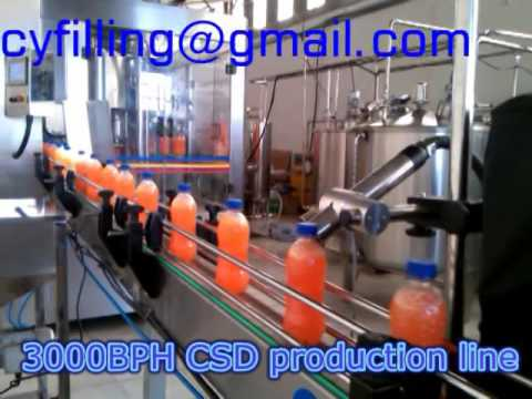 3000BPH carbonated soft drink filling line filling machine