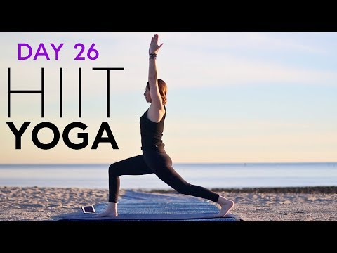 HIIT Yoga For Beginners (20 min workout) Day 26   Fightmaster Yoga Videos