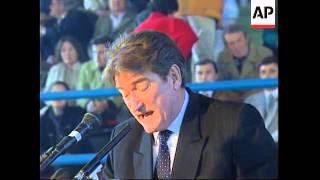ALBANIA: SHKRODA: PRESIDENT SALI BERISHA ADDRESSES RALLY
