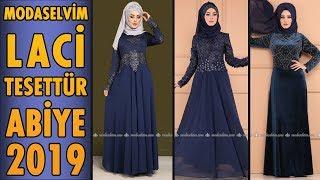 Modaselvim  Laci  Tesettür  Abiye  Elbise Modelleri 2019    Hijab Evening  Dress    Navy  blue