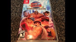 Street Fighter 30th Anniversary Collection Nintendo Switch Inboxing