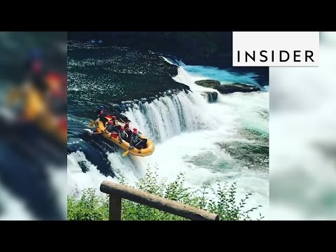 A Whitewater Rafting Tour Sends You Over A Waterfall