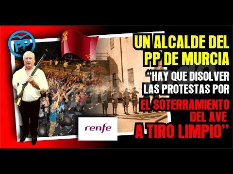 Alcalde del PP de Murcia,Hay que disolver las protestas por el soterramiento del AVE a tiro limpio