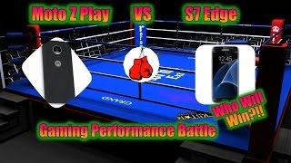 S7 Edge VS Moto Z Play Performance Test