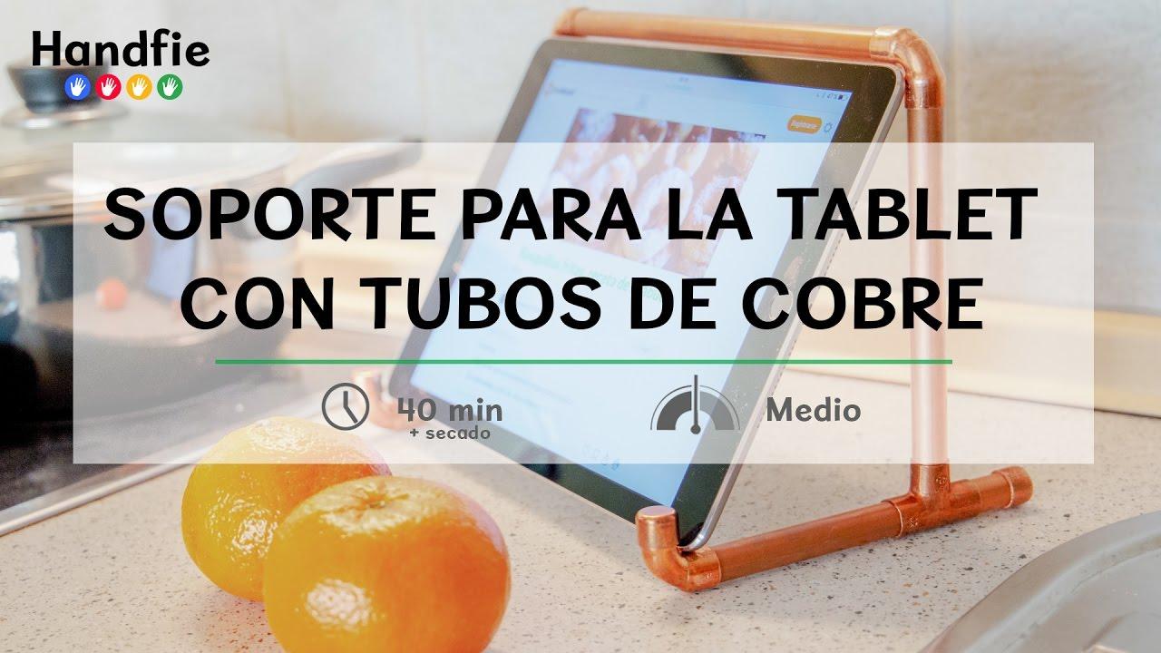 Soporte para la tablet con tubos de cobre handfie diy youtube - Soporte para tablet ...