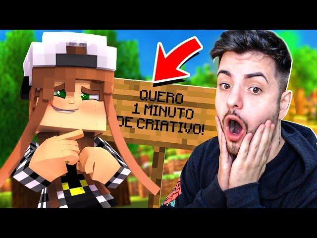 PEDIU 1 MINUTO DE CRIATIVO! - REALIZANDO PEDIDO DOS INSCRITOS NO MINECRAFT!