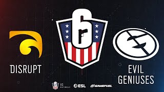 Disrupt vs. Evil Geniuses | Rainbow Six: US Nationals - 2019 | Stage 3 | Western Conference Finals |