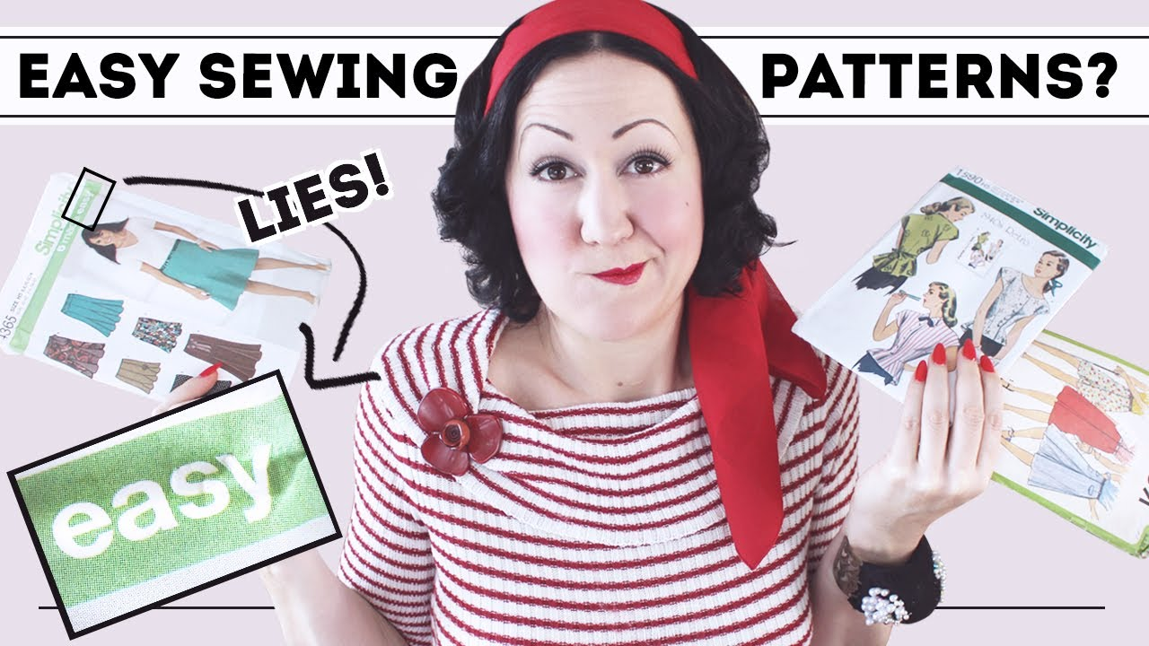 How to pick EASY sewing pattern designs... for YOU!