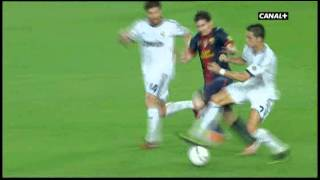 Angry Cristiano Ronaldo fouls against Lionel Messi