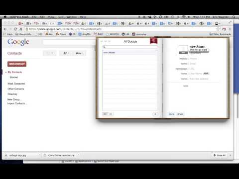CardDav on OSX 10.7 Sync Google Contacts