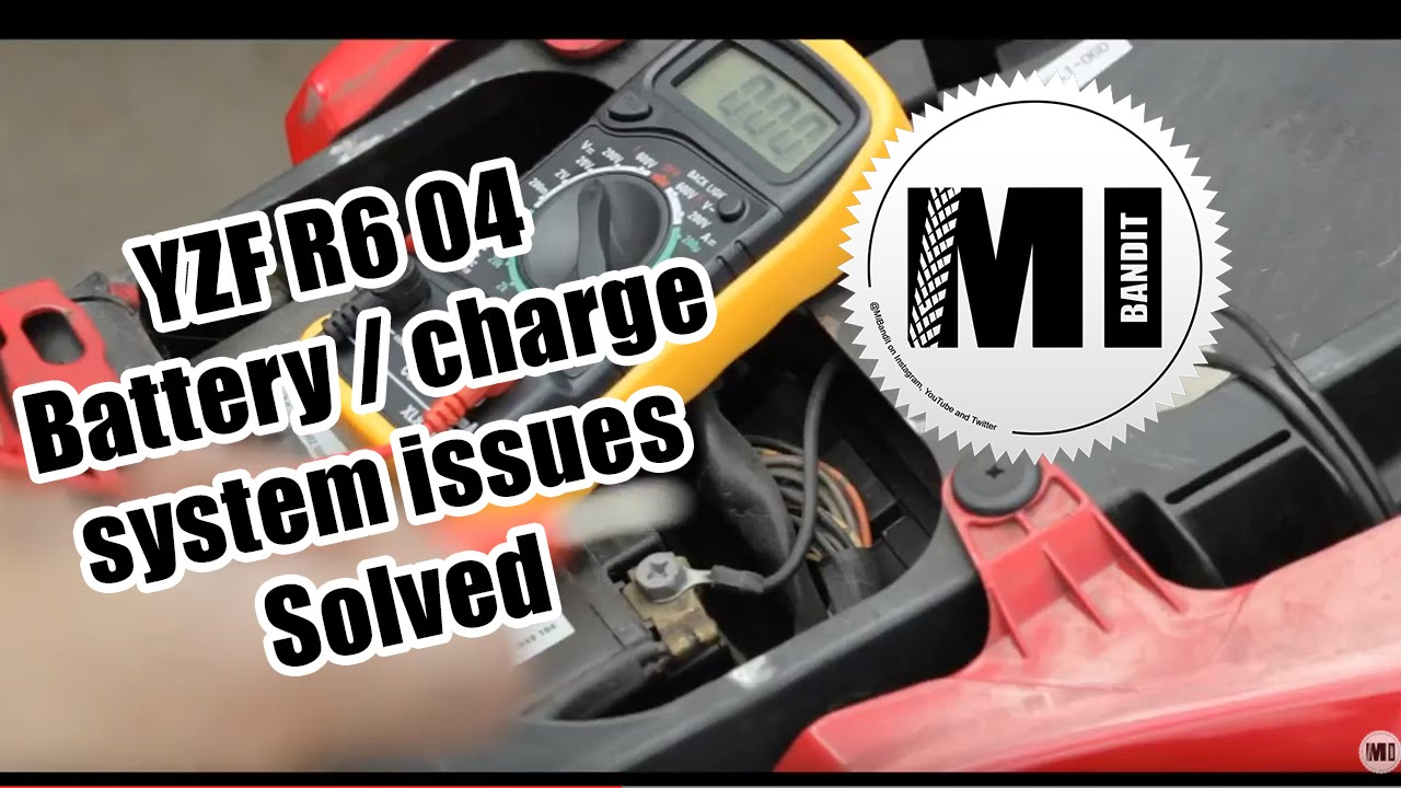 hight resolution of part 1 yamaha yzf r6 2004 motorcycle battery charge system issues youtube