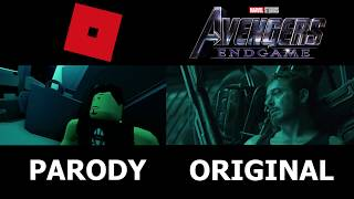 Avengers Endgame Trailer In Roblox Side by Side Comparison