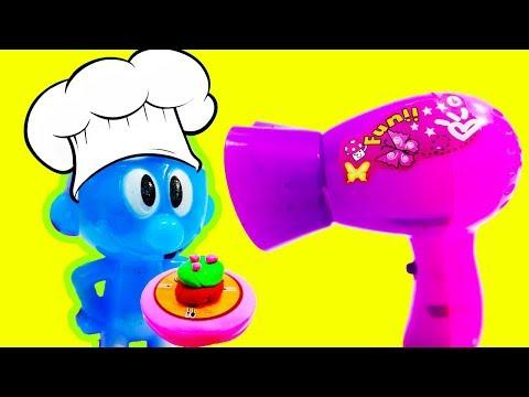 حلقة الشيف سنفور يطبخ الكيك العجيب لماما أجمل ألعاب أطفال البنات والأولاد