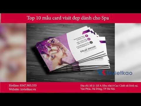 Top 10 Mẫu Card Visit Đẹp Dành Cho Spa