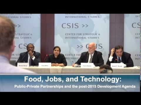 Food, Jobs, and Technology: Public-Private Partnerships and the post-2015 Development Agenda