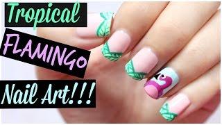 Flamingo Nail Art!!! | MissJenFABULOUS