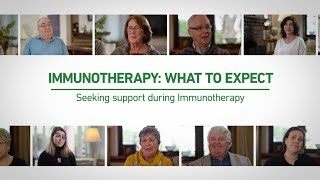 Seeking support during immunotherapy