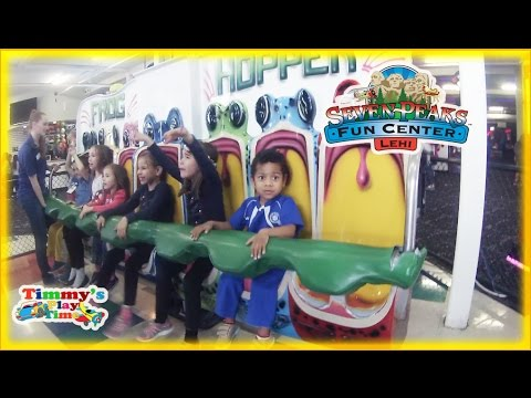 Family Fun Weekend at the Seven Peaks fun center in Lehi, Utah with Arcade Games, Fun Rides and More