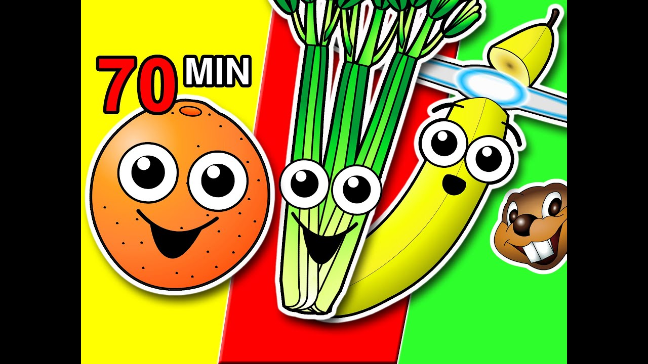 Fruit & Veggies Songs Collection | Learn Fruit + Vegetable Names ...