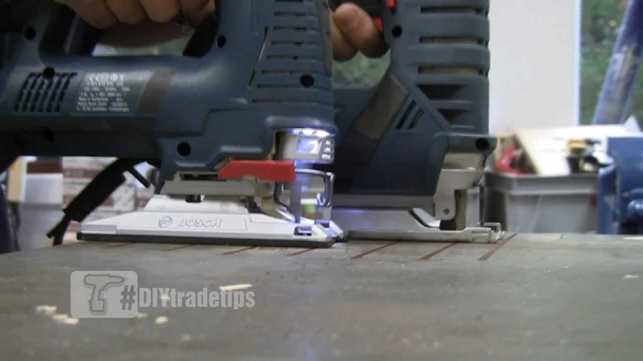 How To Quickly Cut Metal With A Jigsaw Bosch Gst 25m Youtube