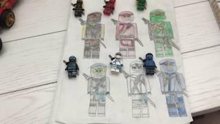 Lego Ninjago Season 11 Suit Drawings (By LegoMessOnTheFloor)