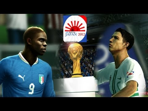 Italy vs. Portugal | Final Match | World Cup Japan 2012 | Pro Evolution Soccer 2012 (PES 2012)