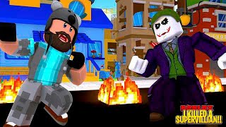 I KILLED A SUPERVILLAIN!! | Super Power Training Simulator | ROBLOX