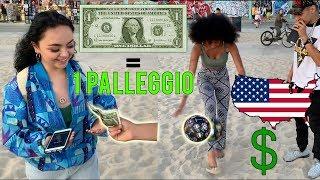 REGALO 1 DOLLARO alle ragazze in AMERICA per ogni PALLEGGIO che riescono a fare! 🇺🇸