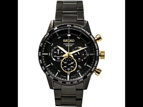 SEIKO 世界第一日本精工 霸氣耀黑時尚腕錶 SSB363P1 - YouTube