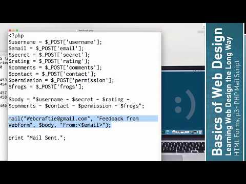 Learn HTML: HTML Forms, P3 - PHP Mail Script