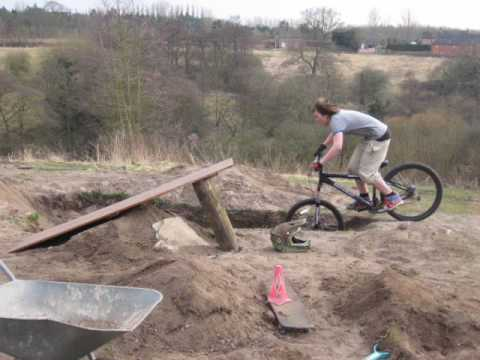Homemade bike jumps youtube for What is dirt made out of