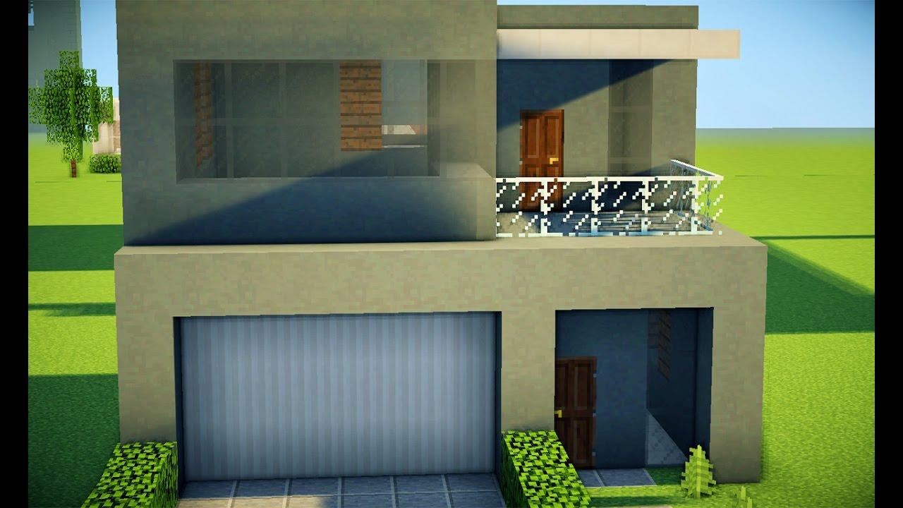 Minecraft tutorial casa moderna 240 youtube for Casa moderna tutorial minecraft