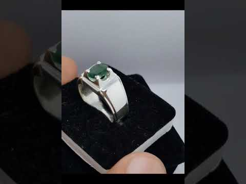 Top quality Clear Clean Emerald ring Dark green emerald ring mens emerald ring emerald stone Swat