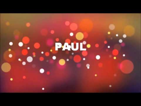 Alles Gute Zum Geburtstag Paul