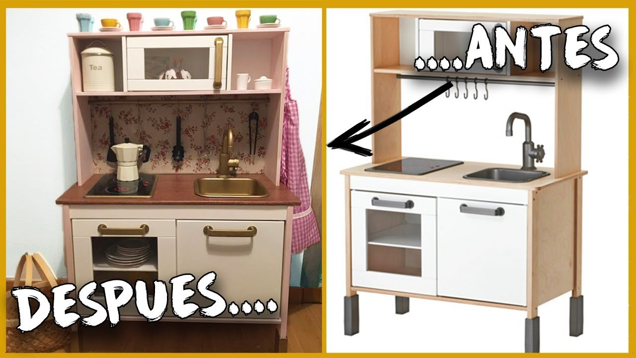 Diy Transformo La Cocinita De Ikea Para Ninos Youtube