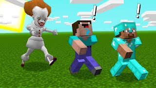 PENNYWISE ATTACKED NOOB and PRO in MINECRAFT! PENNYWISE SCARY DANCING CLOWN ANIMATION Noob vs Pro
