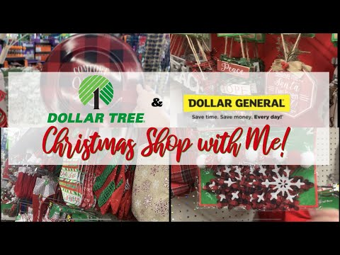 Dollar Tree And Dollar General Christmas Shop With Me!