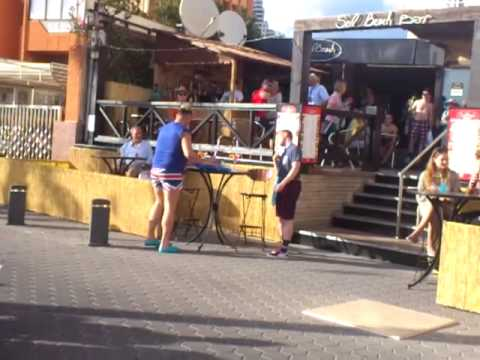 Benidorm 2013 New Series 6 Filming 1 Tony MaudsleyKenneth and Adam Gillen Liam