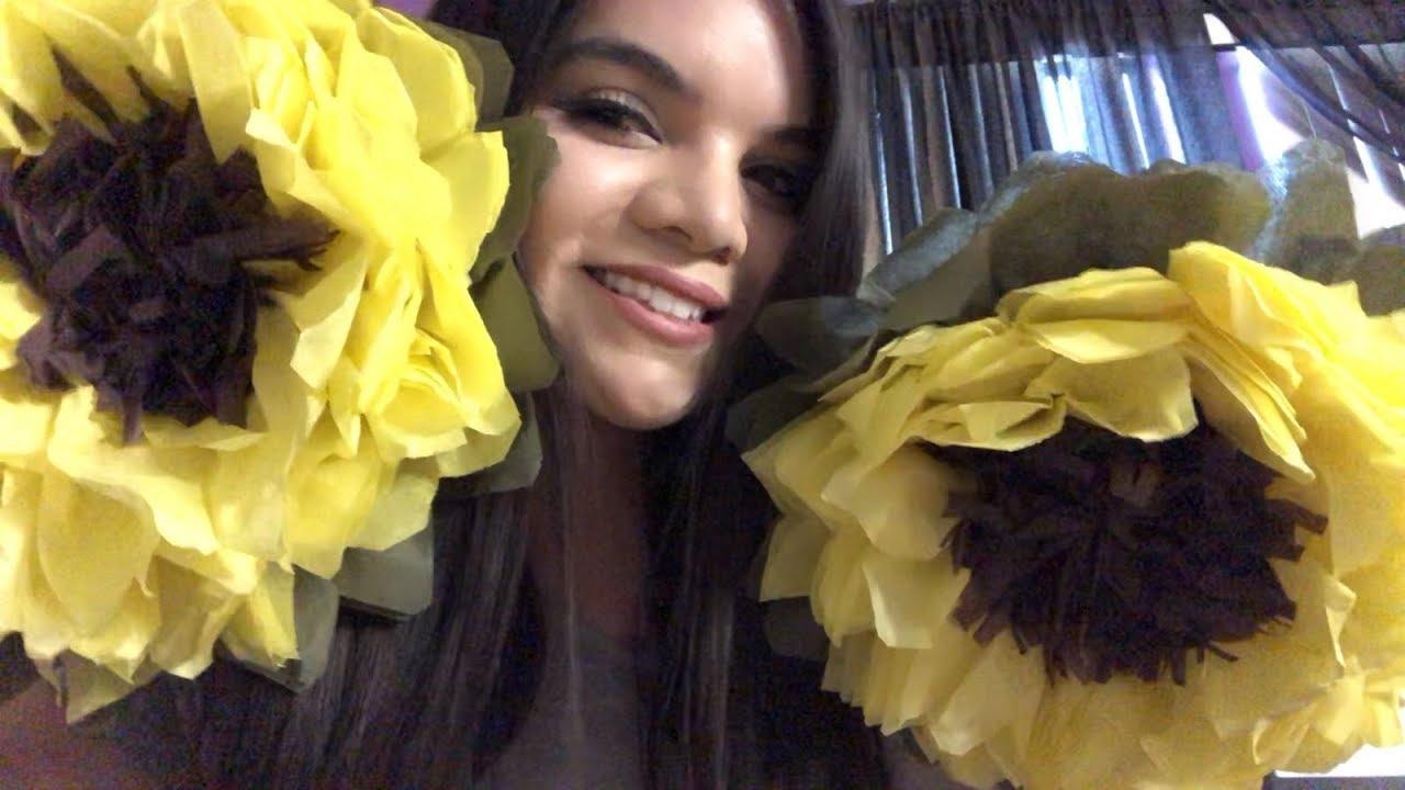 Diy Sunflower Made Of Tissue Paper
