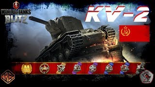 "KV-2 ""Derp King"" - gameplay with Ace Mastery - WoT Blitz"