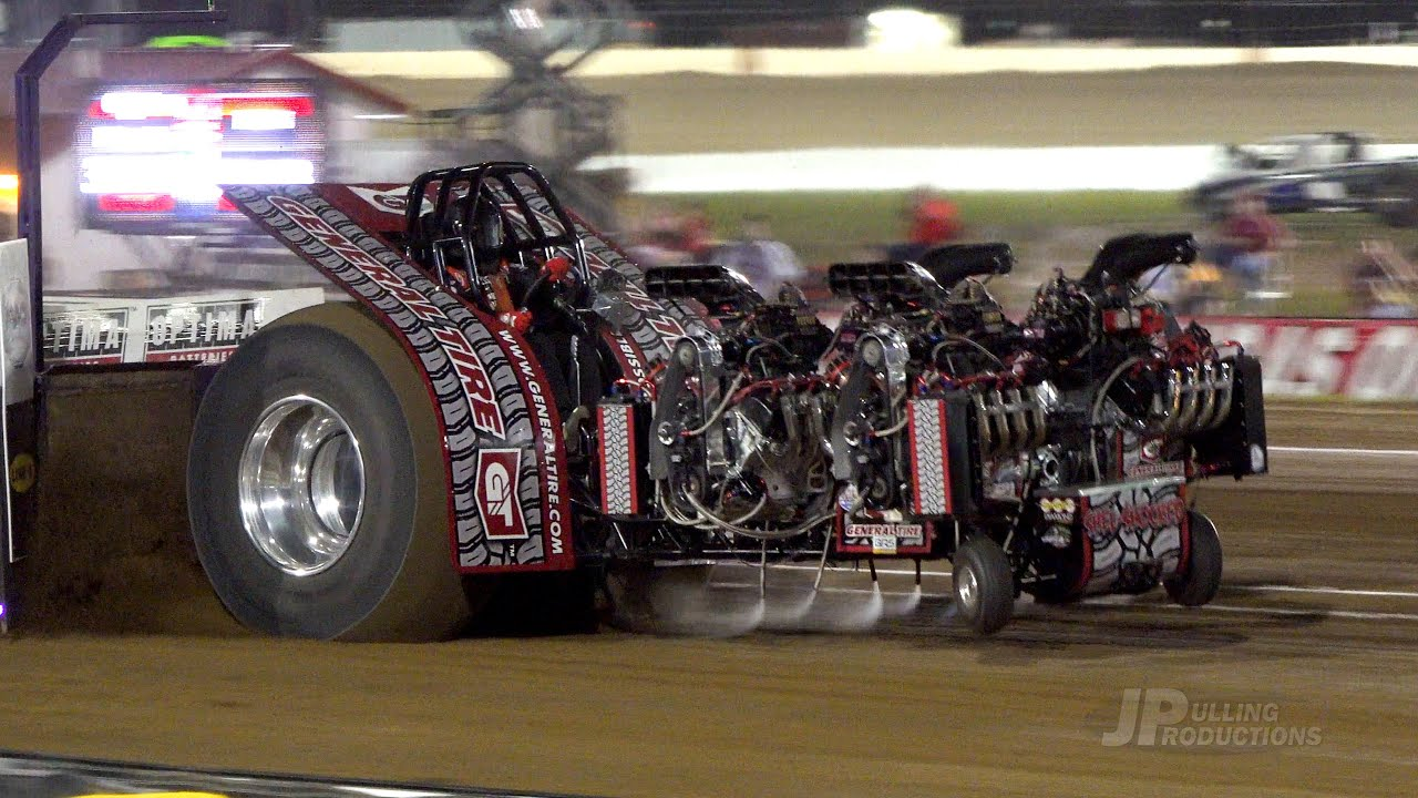 2021 Lucas Oil Super Modified Tractors pulling at 300 Raceway - Farley, IA - Pro Pulling League