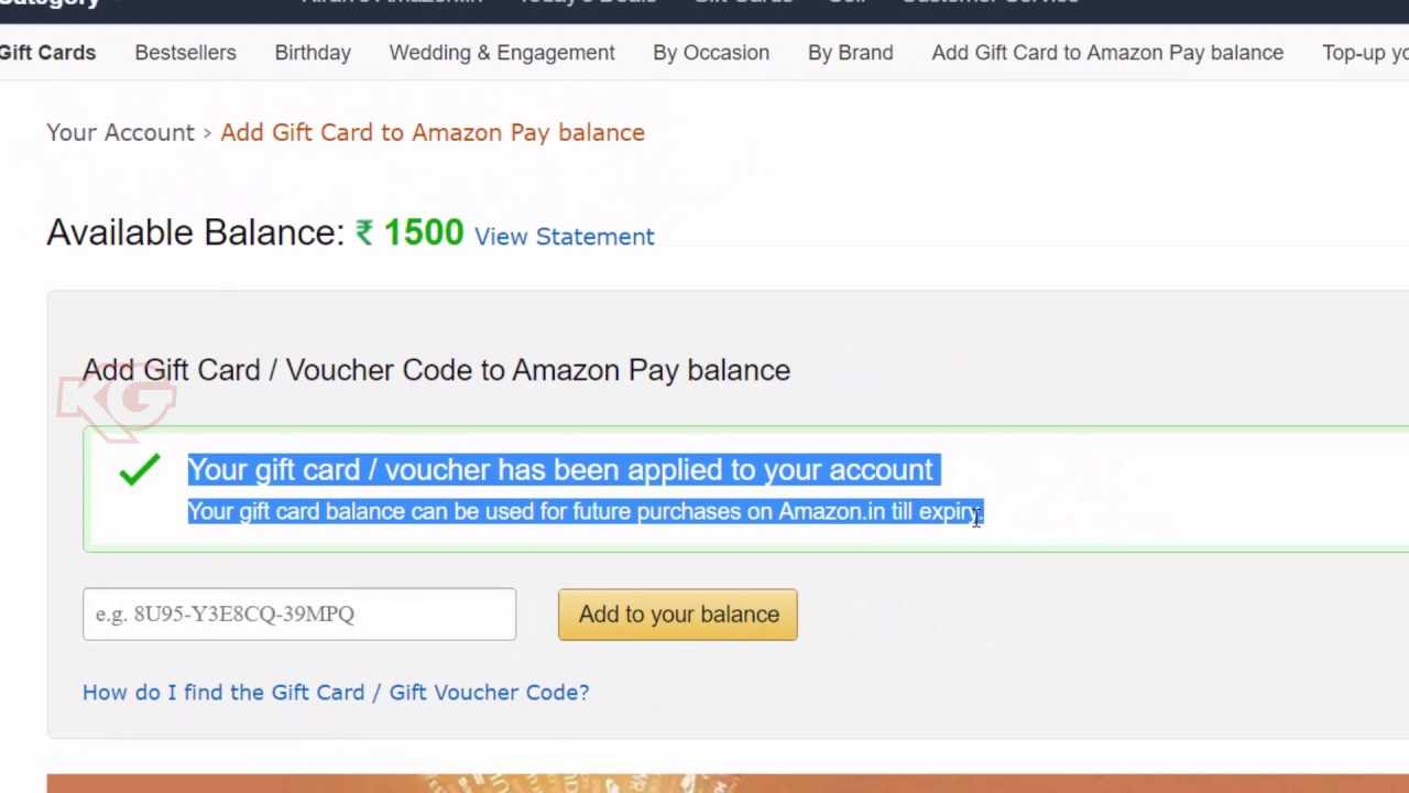 How To Redeem Amazon Gift Card Youtube