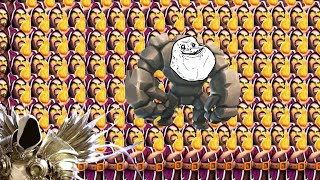 Clash of Clans | 52 Wizards and a Forever Alone Golem