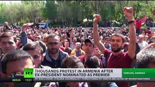 Thousands protest in Armenia after ex-president nominated as premier