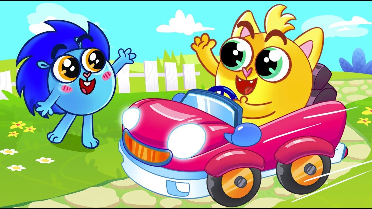 😻 Faster Faster Song 🚘🚘   Baby Zoo Nursery Rhymes And Kids Songs 😻🐨🐰🦁