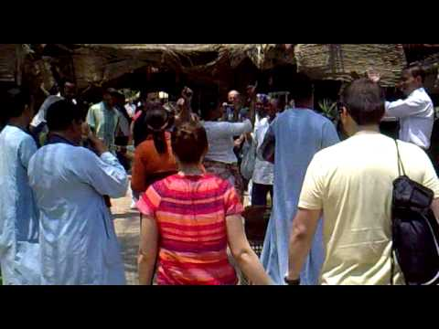 South americans dancing on egyptian music in egypt.